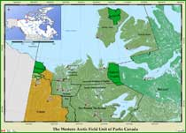 Map of Pingo Canadian Landmark