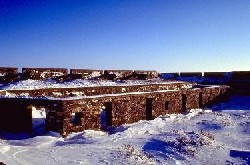 Prince of Wales Fort in winter