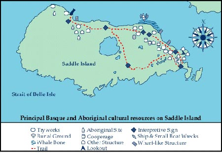 Map of Saddle Island