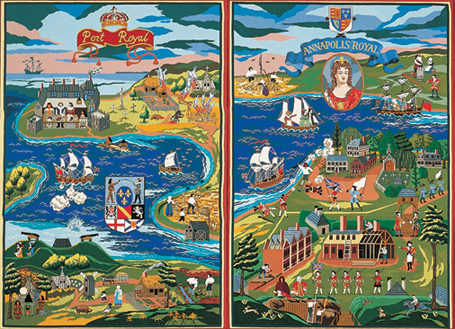 Detail of Fort Anne Heritage Tapestry