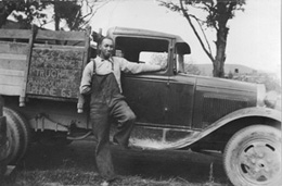 James Lewis Jr. and company truck