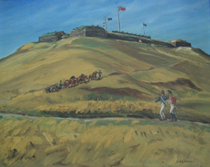 Image of oil painting depicting the third Citadel