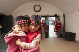 Girls in Guard Room, Halifax Citadel NHS