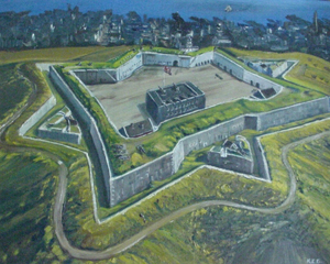 Image of oil painting depicting the fourth Citadel