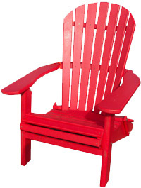 Red chairs port royal national historic site for Chaise adirondack canadian tire