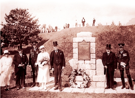 Unveiling of commemorative plaque at Fort Anne, 1921