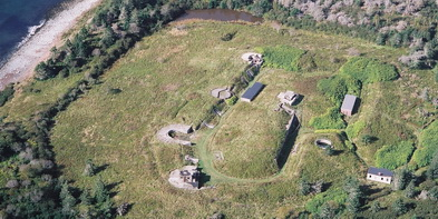 Aerial view of Fort McNab