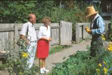Introducing visitors to the garden