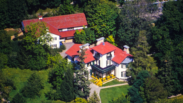 Bellevue House from above