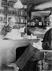 secretary M. Boudrias in his study at Laurier House, 1897