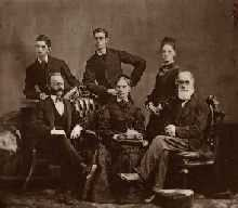 Leslie Family circa 1876. Front row: John Sr., Eliza, father of John or Eliza