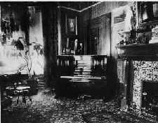 Piano in Lady Laurier's Morning Room, Laurier House 1904