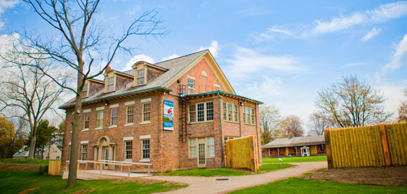 Museum and barrack at Fort Malden National Historic Site
