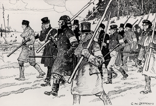 The march on Toronto, 5 December 1837