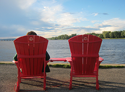 Two chairs in front of the Lake Saint-Louis