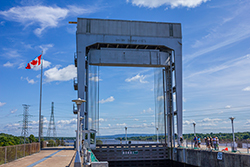 The lock opens a 200 tonne guillotine gate!