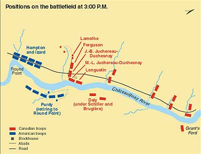 Positions on the battlefield at 3:00 p.m.