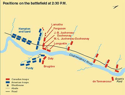 Positions on the battlefield at 2:30 p.m.