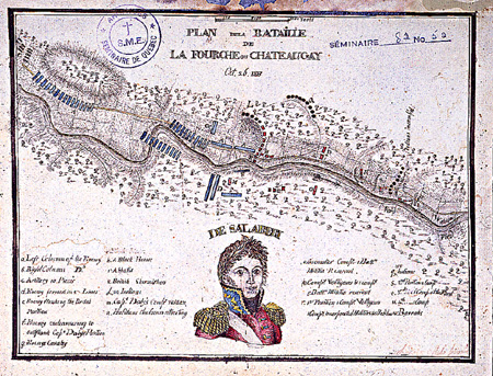 Sketch of the Battle from La Fourche ou Châteauguay