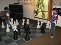 Giant chess game in the chess room!