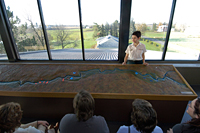 Presentation of the scale model and view from the belvedere