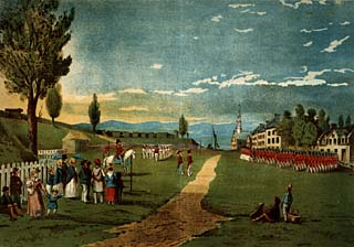 View of the Esplanade in 1832 by R.A. Sproule