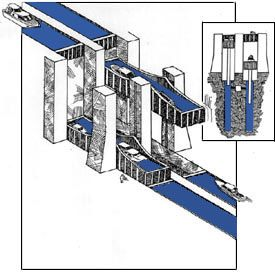 Drawing showing how a hydraulic lock works
