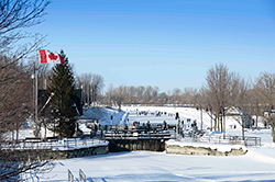 The Chambly Canal National Historic Site in Winter