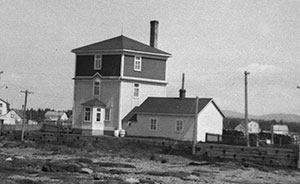 The second lighthouse was transformed into pilot living quarters