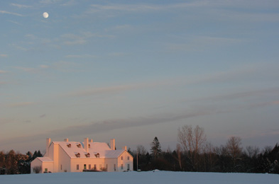 View of the Ironmaster's house during winter.