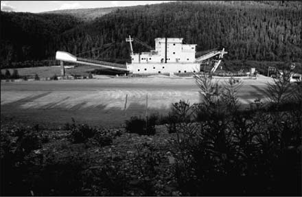 Dredge No. 4 after relocation to new foundation