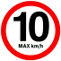 Speed Limit is 10 km/h