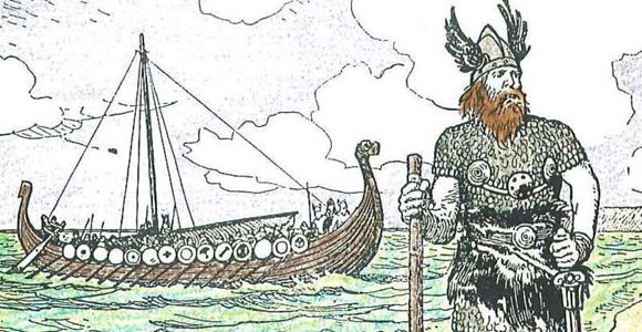 Illustration of Viking explorer