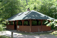 Picnic/cooking shelter at Cedar Spring Campground