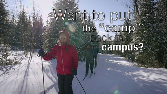 Want to put the « camp » back in campus? Your Parks Canada Campus Club wants you to go (or lead!) student-led adventures, on a student budget, into Canada's most treasured, protected places. Are you Intrigued? Drop us a line at campus@pc.gc.ca or visit our website at www.pc.gc.ca/campusclub
