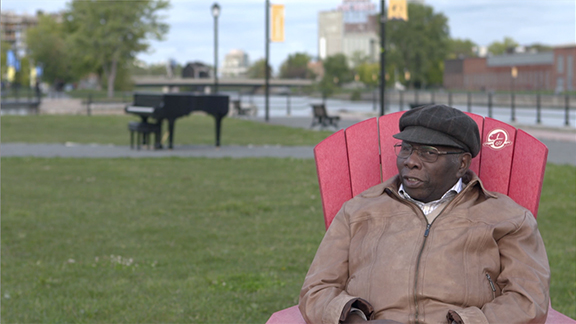 Oliver Jones recounts his childhood memories at the Lachine Canal