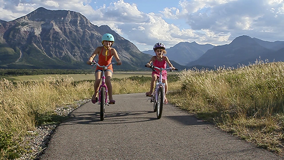Waterton Lakes National Park is a great place for the family. From bike rides, kayaking, short hikes, horseback riding, a swim in a lake or some splashing at the waterpark, there's no shortage of fun!