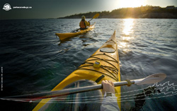 Sea kayaking on the St. Lawrence
