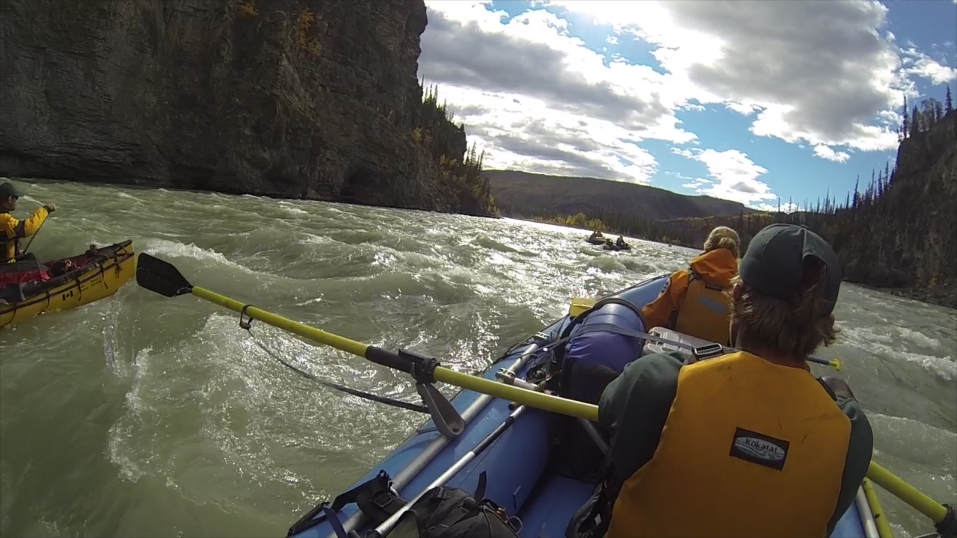 River rafting in Nahanni offers both challenges and escapes. Which would you prefer?