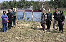 Forked three-awned grass sign ceremony at Beausoleil First Nation