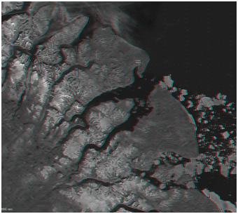 Satellite imagery of the Clyde River in Nunavut