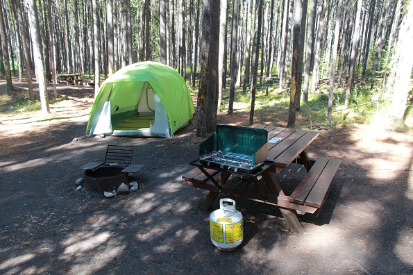 Equipped campsites - Banff National Park