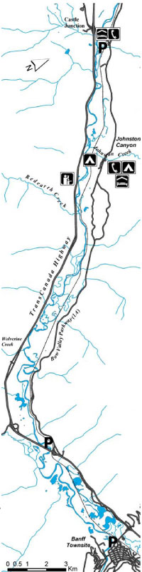 Map of Section # 2 Castle Junction to Banff