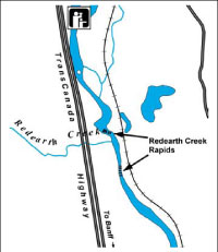 Map of Redearth Creek Rapids