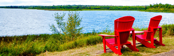 Red Chairs Elk Island National Park