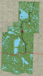 Locator Map - Shirley Lake Trail