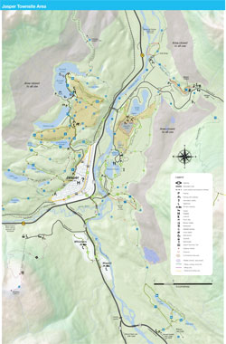 MAP A: Jasper Townsite Area