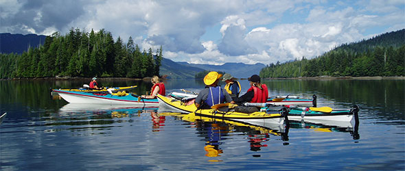 Kayakers in Gwaii Haanas