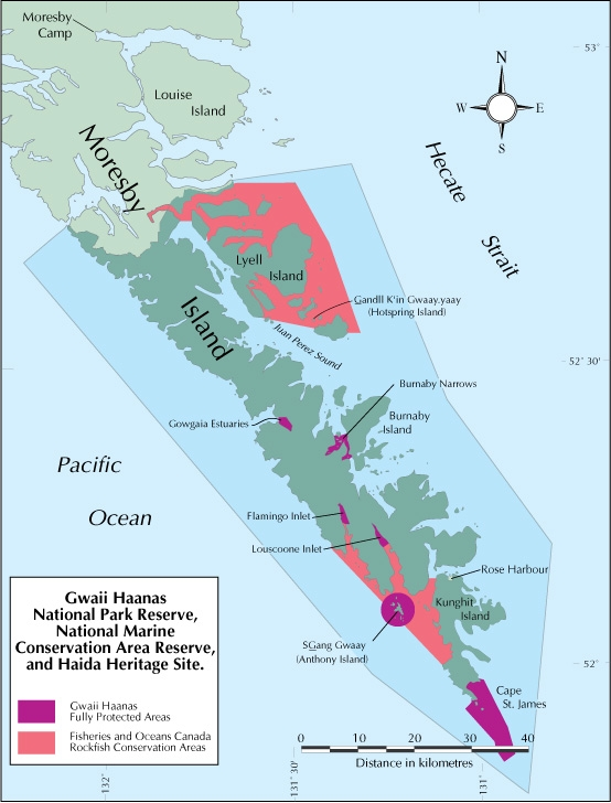Gwaii Haanas National Park Reserve, National Marine Conservation Area Reserve, and Haida Heritage Site