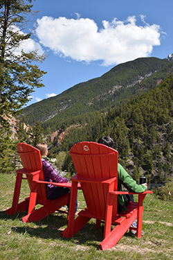 red chairs kootenay national park